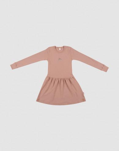 Children's wool knit dress- powder