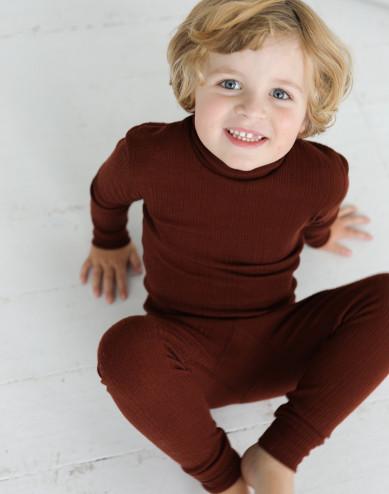 Children's merino wool high neck