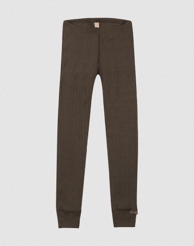 Children's wool leggings- Dark Chocolate