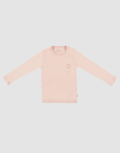 Children's cotton pyjama top- rose