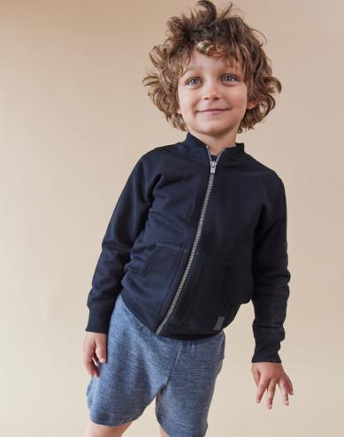 Children's sweatshirt with zip- black