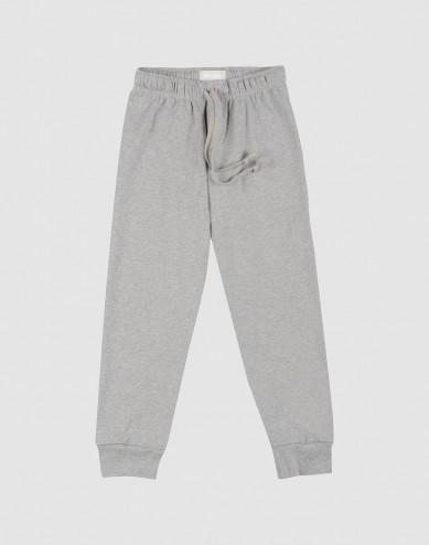 Children's cotton pyjama bottoms- grey melange