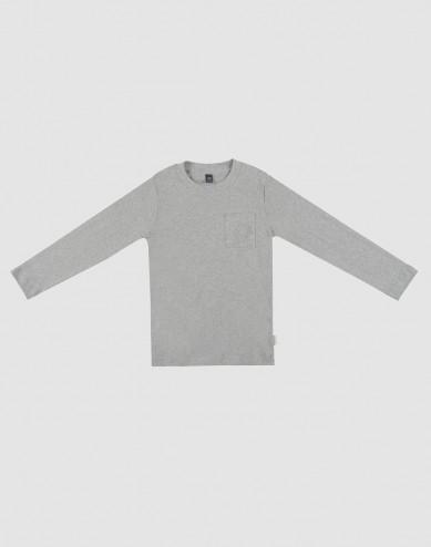 Children's pyjama top- grey melange