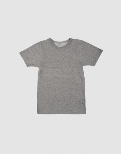 Kids' organic cotton T-shirt- grey melange