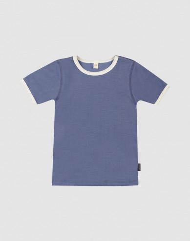 Children's cotton T-shirt- Clear blue