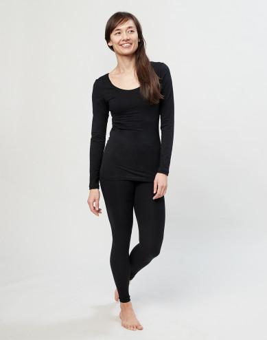 Women's cotton leggings- black