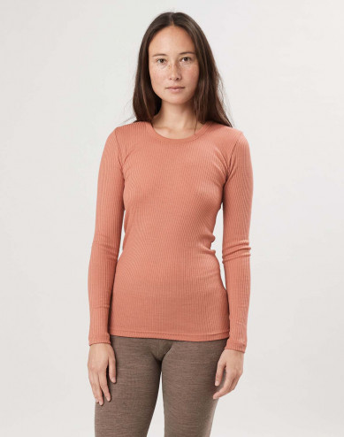 Women's merino wool long sleeve top