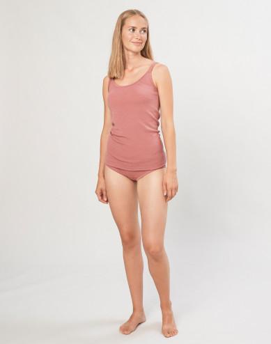 Women's merino wool midi briefs- Dark Pink