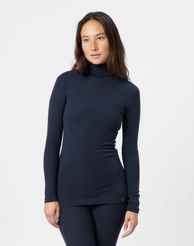 Women's merino wool roll neck top