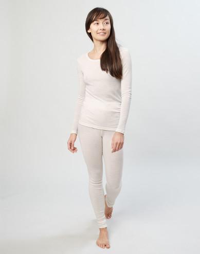 Women's merino wool leggings- nature