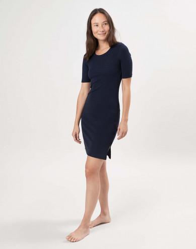 Women's merino wool short sleeve dress
