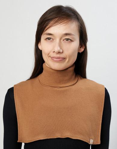 Women's organic merino wool neckwarmer-caramel
