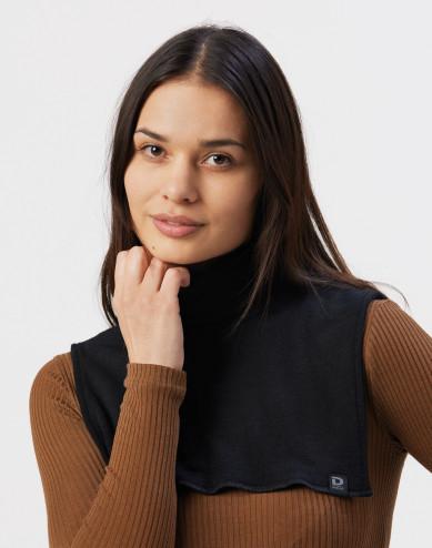 Women's organic merino wool neckwarmer-black