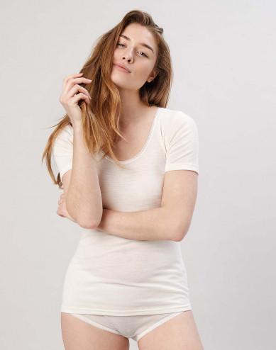 Women's merino T-shirt- nature