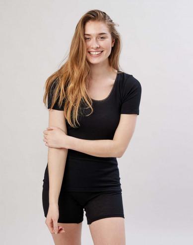 Women's merino T-shirt- black