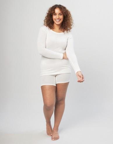 Women's merino wool shorts with wide elastic band nature