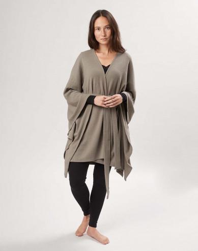 Women's merino wool poncho