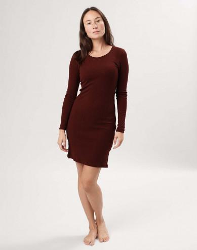 Women's merino wool long sleeve dress
