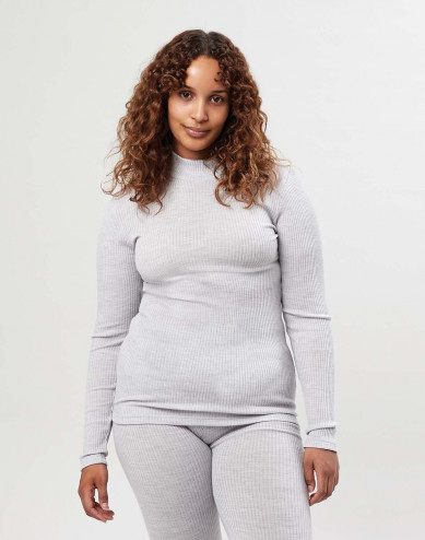 Women's merino wool high neck top