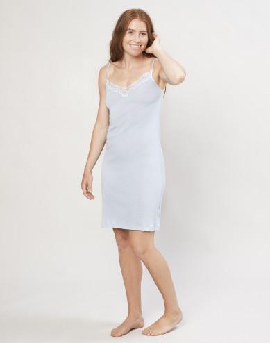 Women's organic wool/silk dress- light blue
