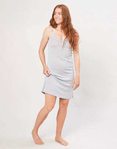 Women's organic wool/silk dress- grey