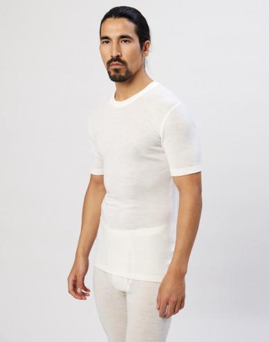 Men's merino wool T-shirt- nature