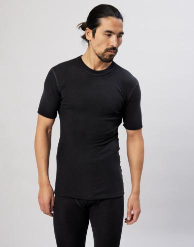 Men's merino wool T-shirt- black