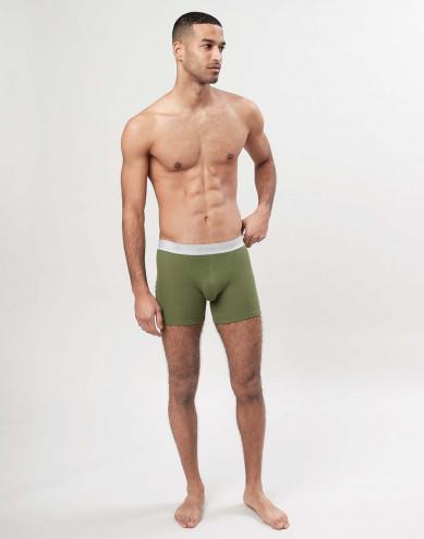 Men's merino wool boxers shorts - Avocado green