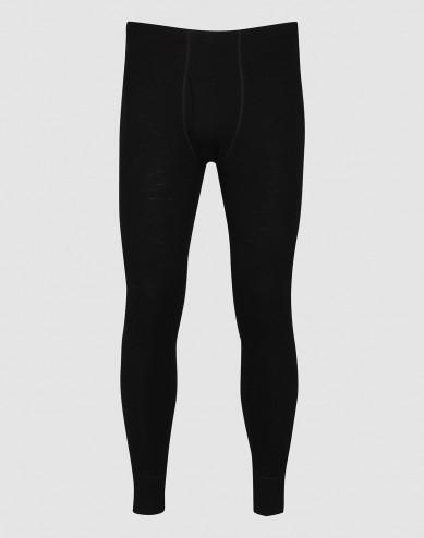 DILLING men's plus size merino wool long johns- black