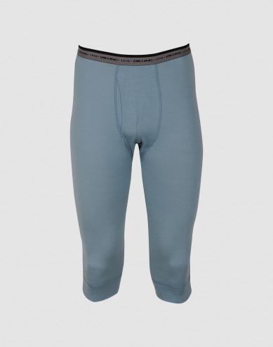 Men's exclusive merino wool ¾ leggings- mineral blue
