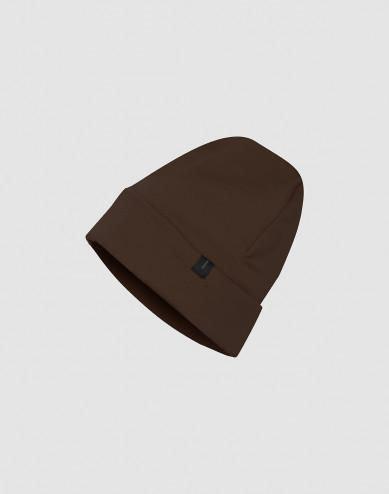 Wool terry hat- Dark Chocolate