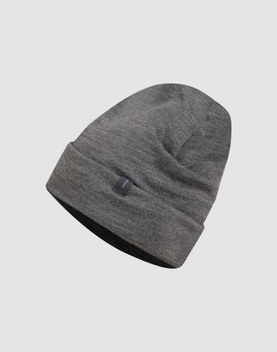 Wool terry hat- dark grey melange