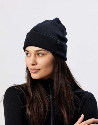 Wool terry hat- black