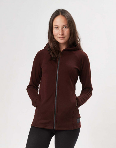 Women's wool terry hooded jacket