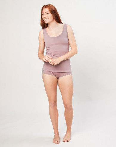 Women's exclusive organic merino wool hipsters- Dusty Pink