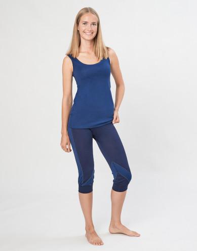 Women's exclusive organic merino wool 3/4 leggings- Navy