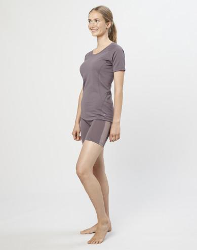 Women's exclusive organic merino wool shorts- lavender grey