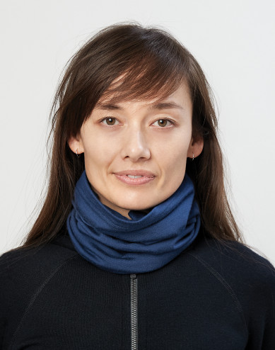 Women's exclusive merino wool tube scarf- Dark Blue