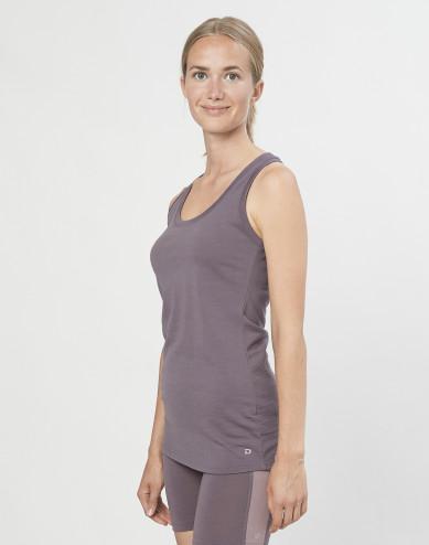 Women's exclusive organic merino wool tank top- lavender grey