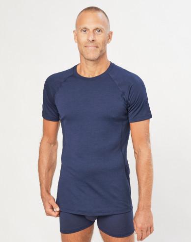 Men's exclusive merino wool T-shirt- navy