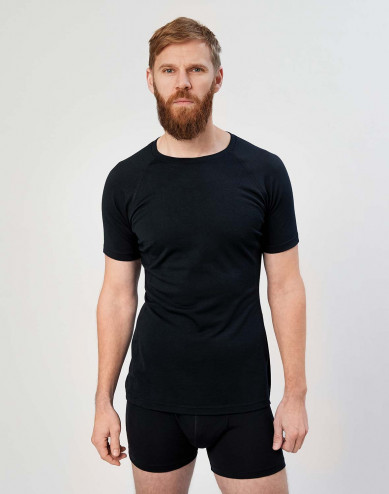 Men's exclusive merino wool T-shirt- black