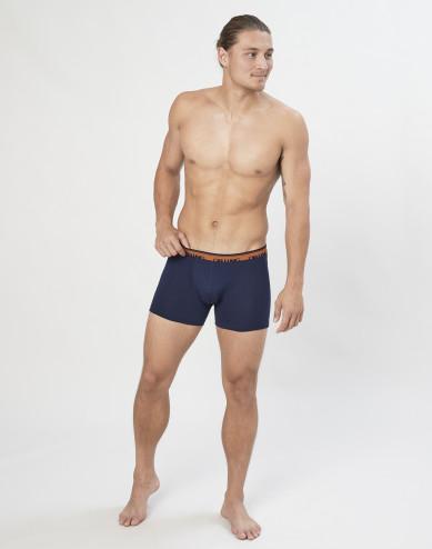Men's exclusive organic merino wool boxer shorts- Navy