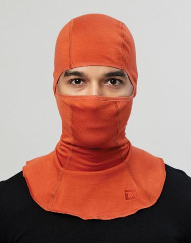 Men's exclusive organic merino wool balaclava- Orange