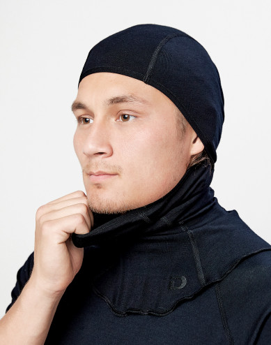 Men's exclusive organic merino wool balaclava- Black